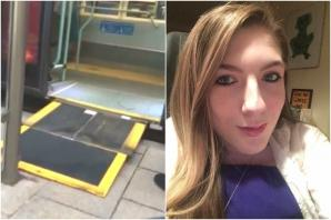 VIDEO: Bus driver leaves teen waiting in the cold – because he couldn't be bothered to extend the wheelchair ramp